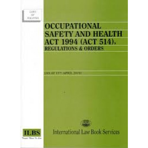 Occupational Safety Health Act 1994 Law Statutes English Books