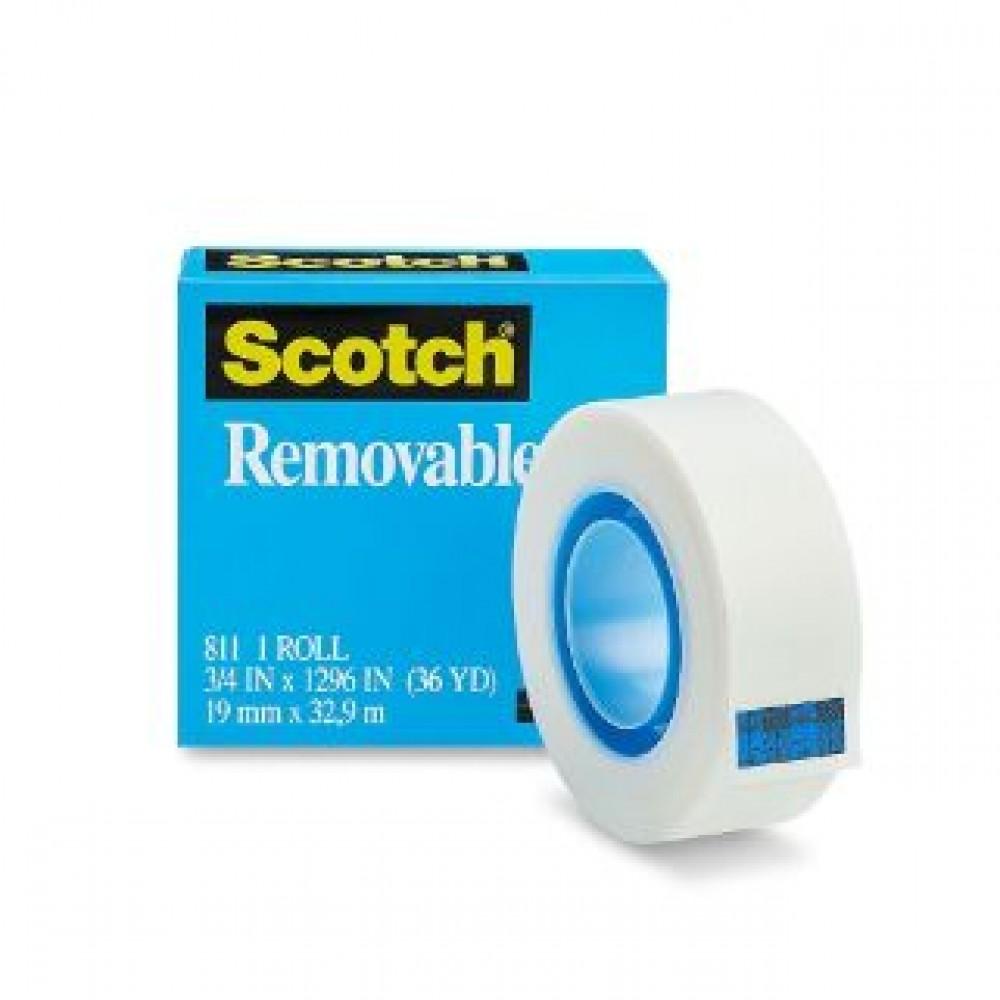 3M SCOTCH REMOVABLE TAPE 811 19MM X 32.9M