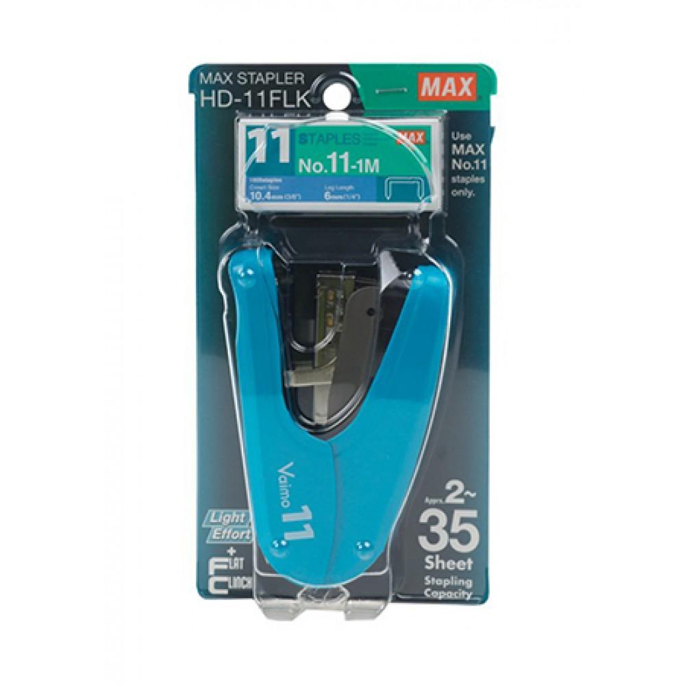 MAX FLAT-CLINCH STAPLER HD-11FLK BLUE