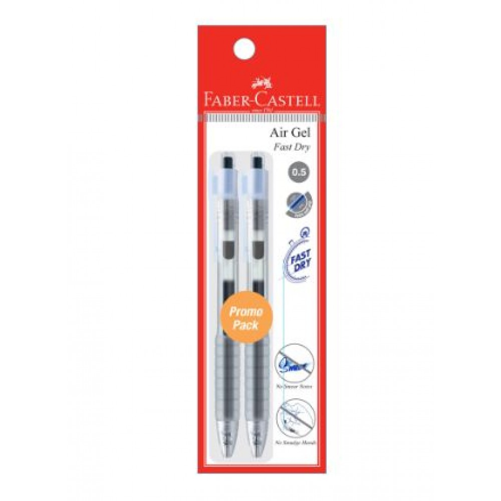 FABER-CASTELL Air Gel Pen 0.5mm 2 Pieces in Pack – 2 Black