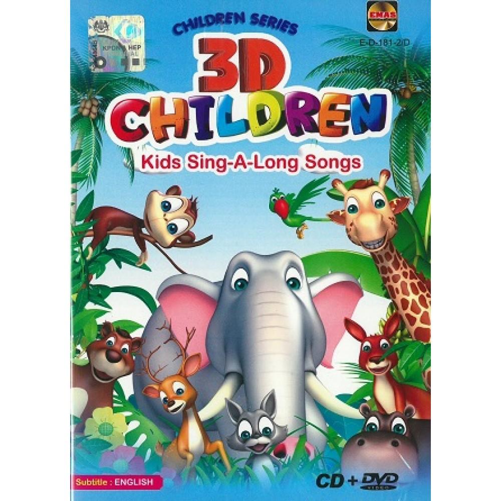 3D CHILDREN KIDS SING-A-LONG SONGS(CD+DVD)