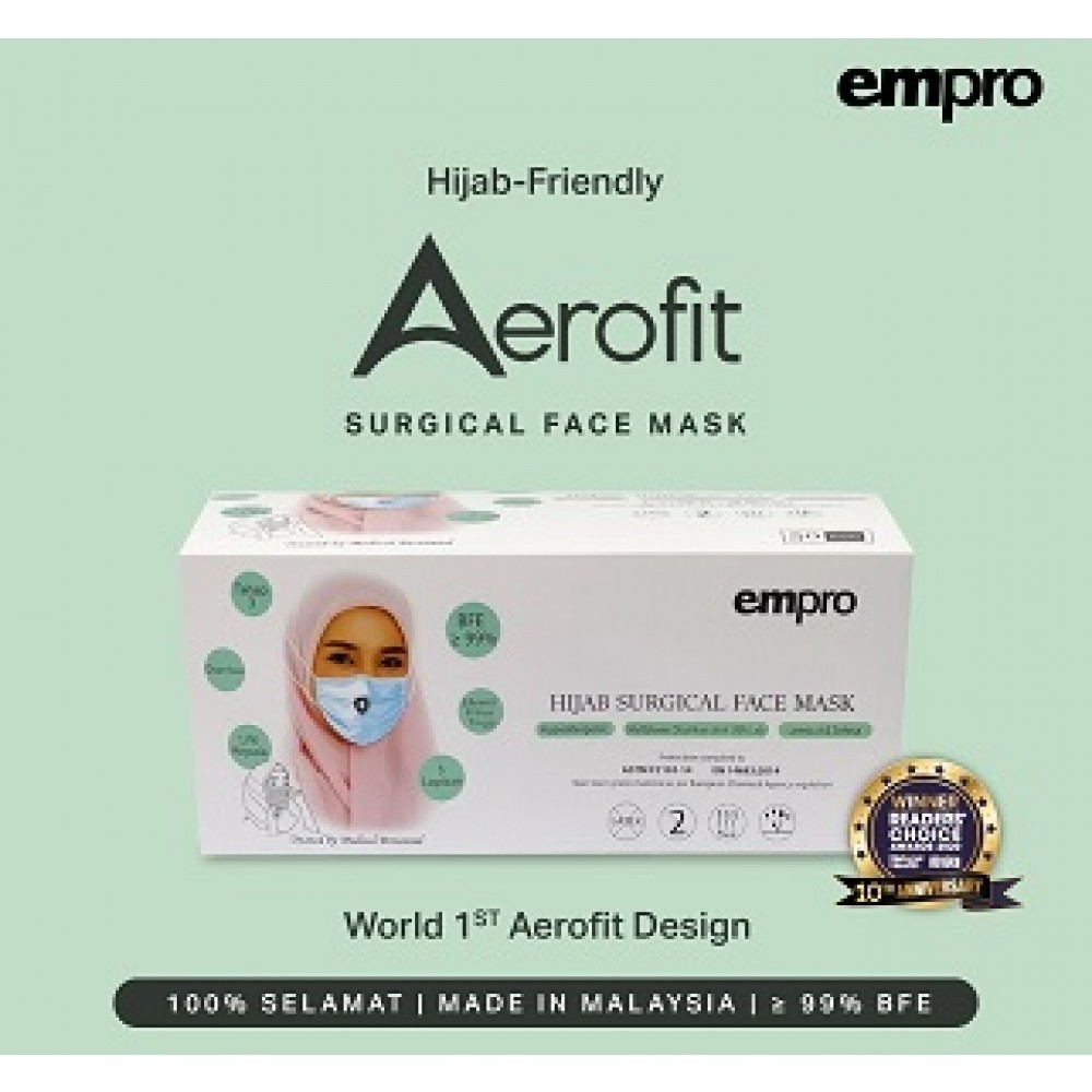EMPRO SURGICAL HIJAB FACE MASK 50'S