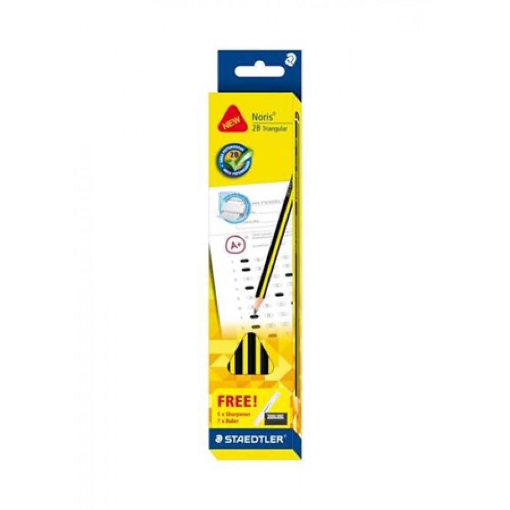 Noris®2B Triangular GRED PEPERIKSAAN Pencil 12's/Box - Yellow Barrel