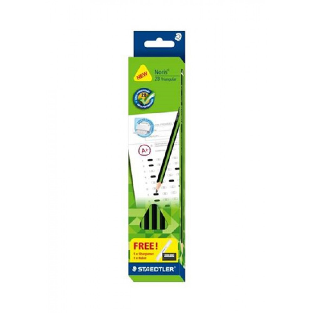 Noris®2B Triangular GRED PEPERIKSAAN pencil 12's/Box - Green Barrel