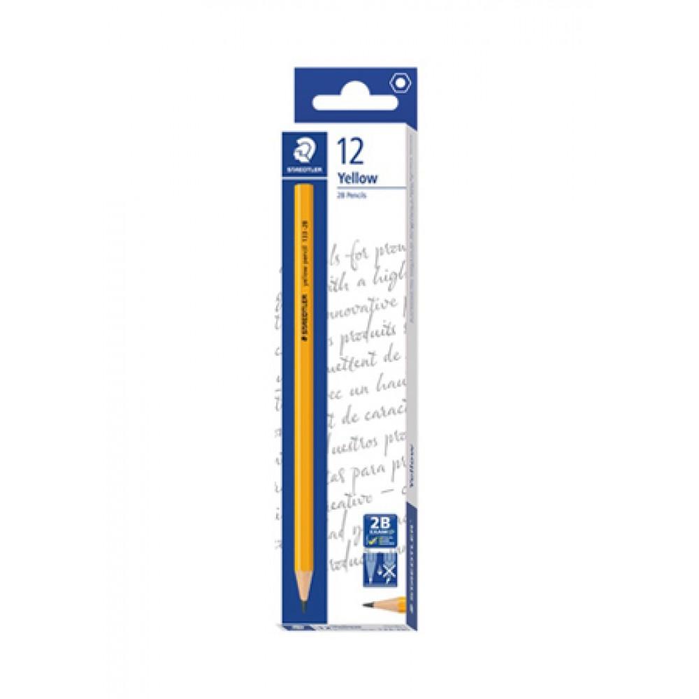 Staedtler Yellow Pencil in Dozen Box (12 Pieces) - 2B