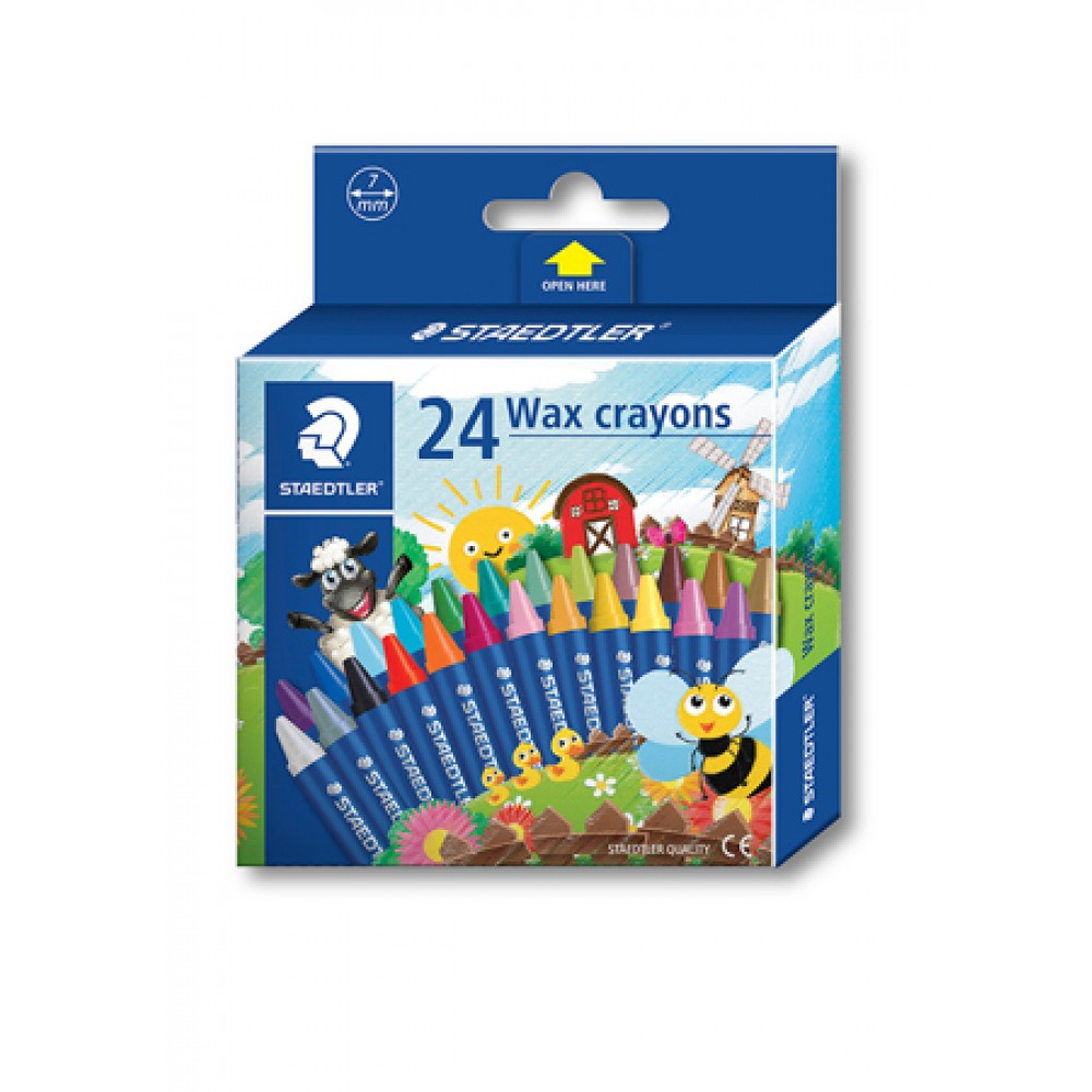 STAEDTLER WAX CRAYONS - 24 COLOURS