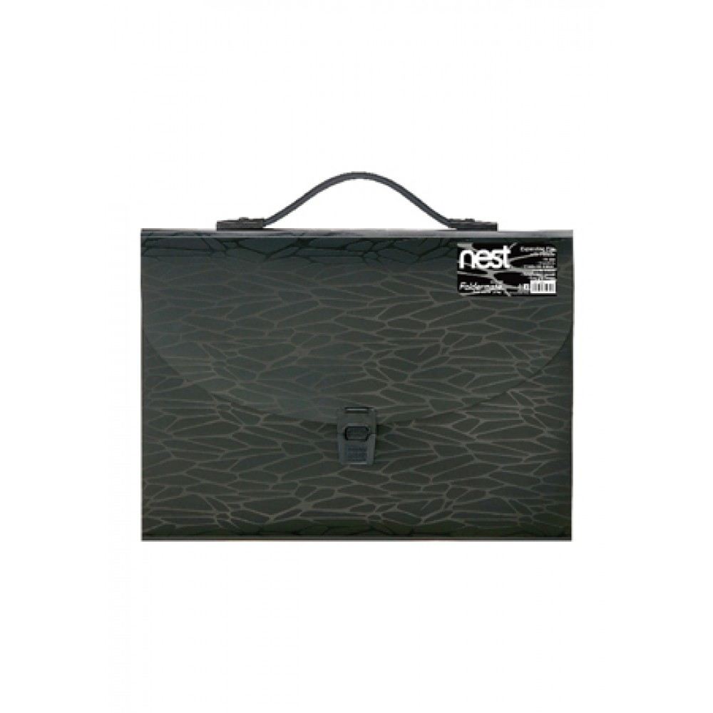 FOLDERMATE NEST SERIES EXPANDING FILE A4 13 POCKETS WITH HANDLE - BLACK