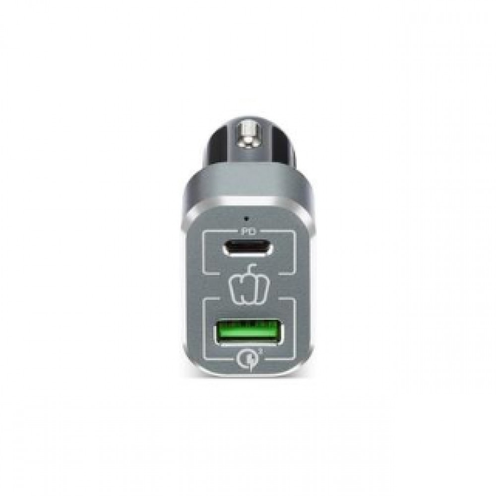 PEPPER JOBS PDQC63W PD TYPE-C + QUALCOMM 3.0 USB CAR CHARGER
