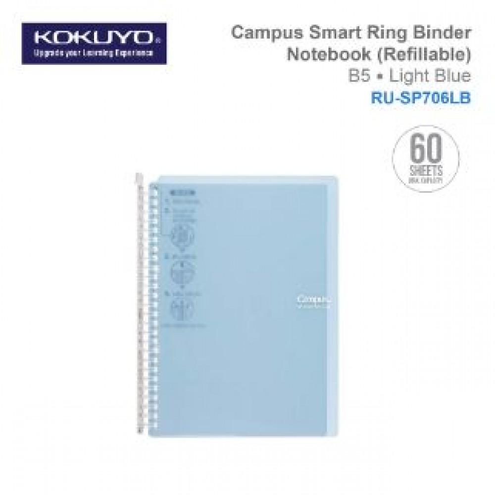KOKUYO CAMPUS SMART RING BINDER NOTEBOOK B5 (REFILLABLE) RU-SP706LB