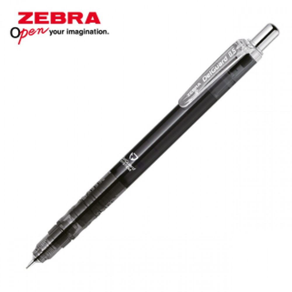 ZEBRA DELGUARD LIGHT MECHANICAL PENCIL 0.5MM CLEAR BLACK