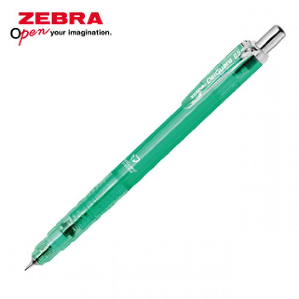 ZEBRA DELGUARD LIGHT MECHANICAL PENCIL 0.5MM CLEAR BLUE GREEN