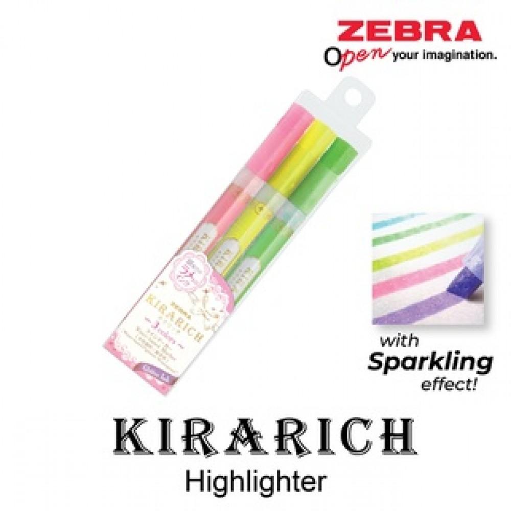 ZEBRA KIRARICH HIGHLIGHTER 3'S SET