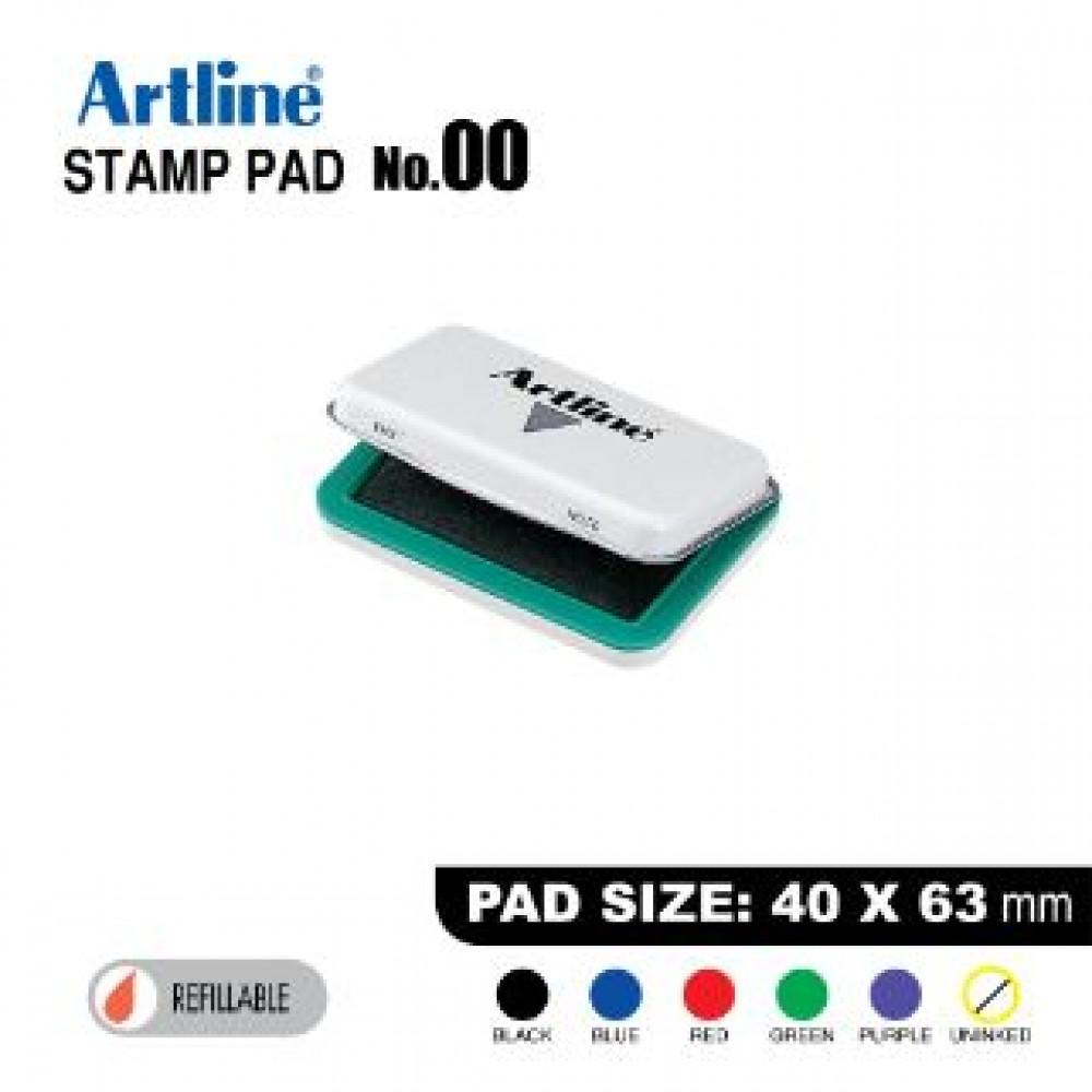 ARTLINE STAMP PAD NO.00 EHJ-1 EHJU-1 40x63mm GREEN