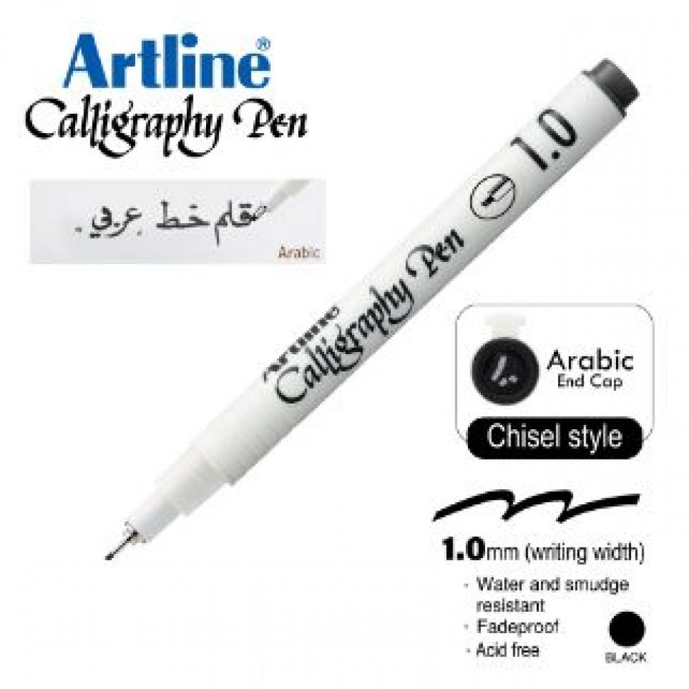 ARTLINE CALLIGRAPHY PEN EK-241N/AB 1.0MM CHISEL NIB BLACK