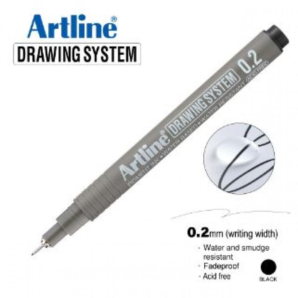 ARTLINE EK232 DRAWING SYSTEM 0.2MM BLACK