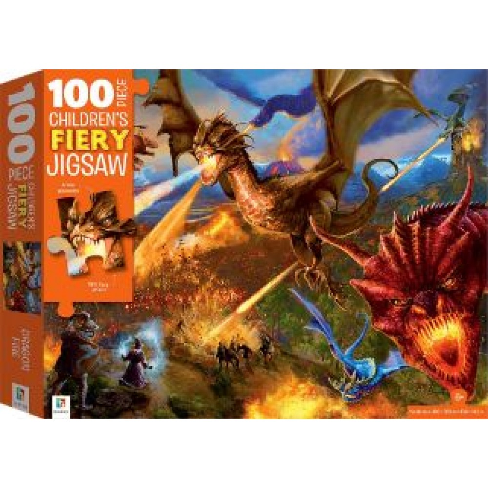 HINKLER CHILDREN JIGSAW PUZZLE WITH TREATMENTS  DRAGONS 100PCS
