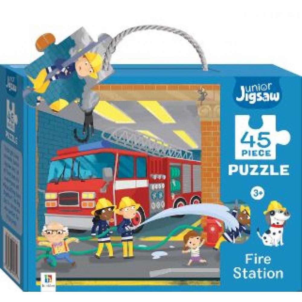 HINKLER CHILDREN JIGSAW PUZZLE FIRE STATION 45PCS