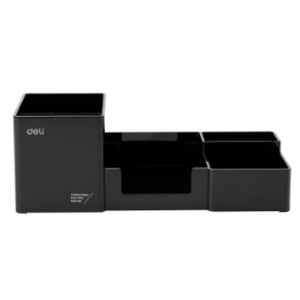 DELI DESKTOP ORGANIZER BLACK EZ00220