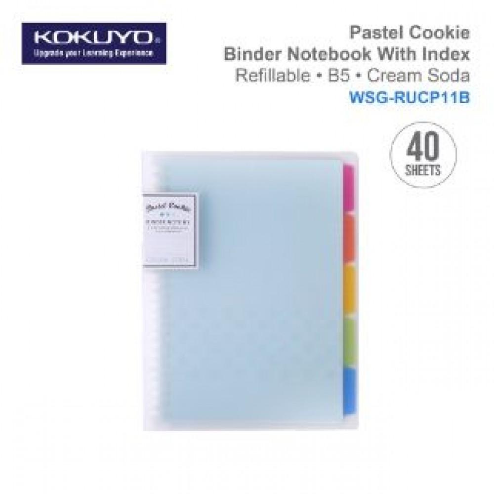 KOKUYO PASTEL COOKIE BINDER NOTEBOOK B5 (REFILLABLE)BLUE WSG-RUCP11