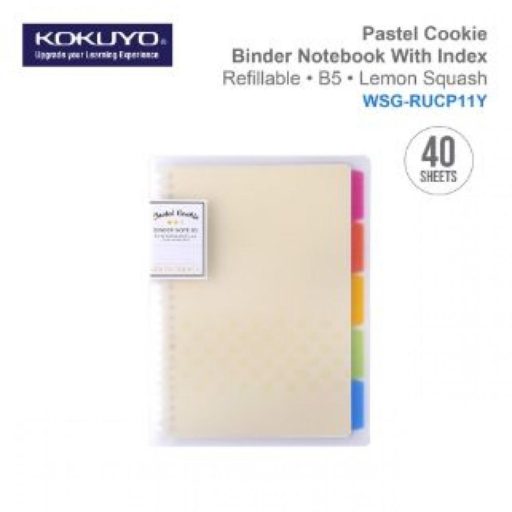 KOKUYO PASTEL COOKIE BINDER NOTEBOOK B5 (REFILLABLE)YELLOW WSG-RUCP11