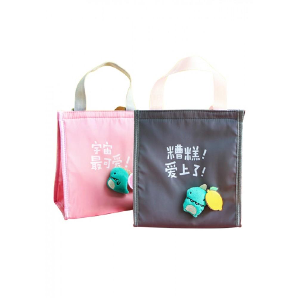 INSULATED ZIPPER LUNCH BAG - DINO AA01772