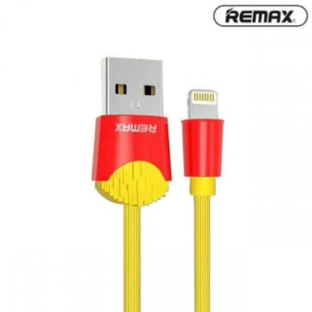 REMAX RC-114I CHIPS LIGHTNING CABLE YELLOW