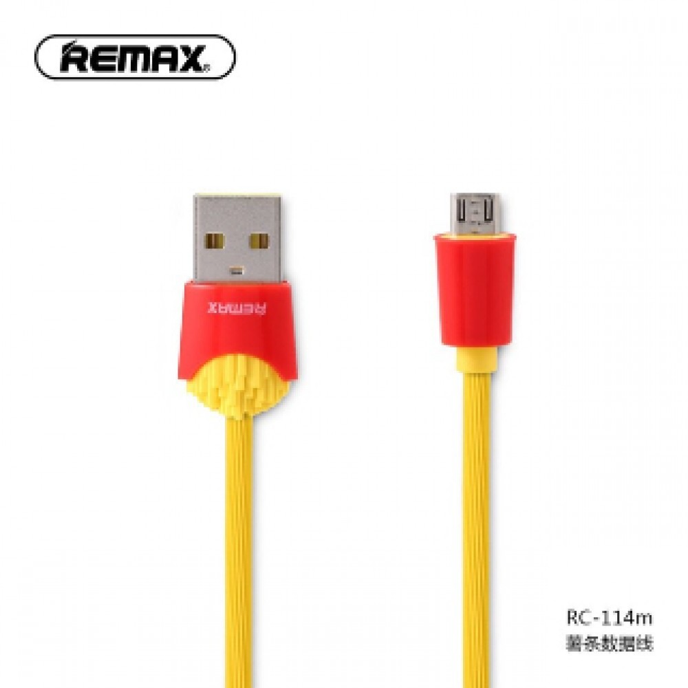 REMAX RC-114M CHIPS MICRO USB CABLE YELLOW