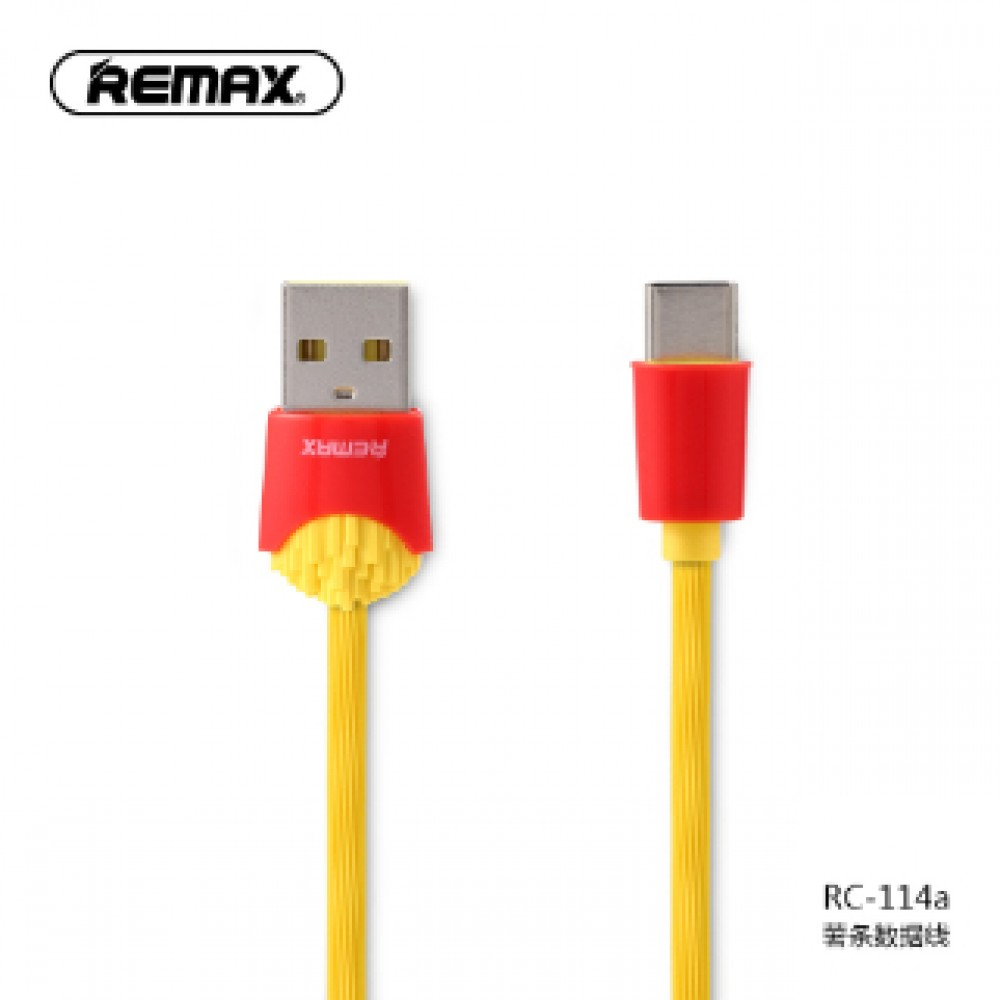 REMAX RC-114A CHIPS TYPE-C CABLE YELLOW