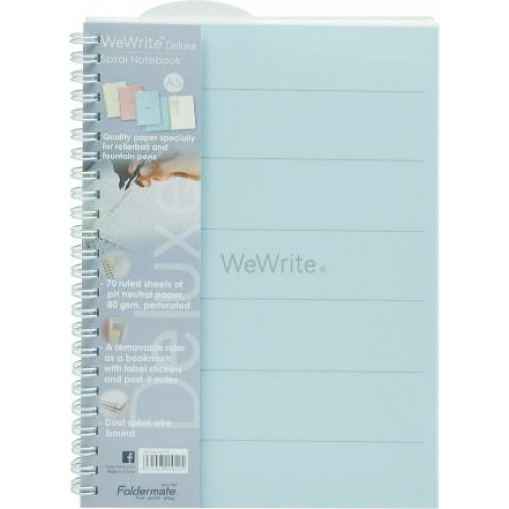 FOLDERMATE WEWRITE DELUXE SERIES SPIRAL NOTE BOOK B5 - BLUE