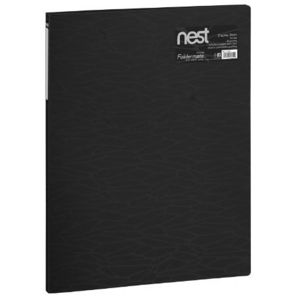 FOLDERMATE NEST SERIES DISPLAY BOOK A4 20 POCKETS - BLACK