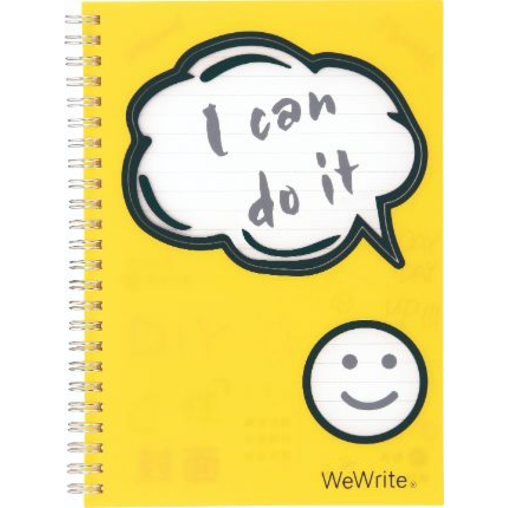 FOLDERMATE WEWRITE HI THERE SERIES SPIRAL NOTE BOOK A5 YELLOW