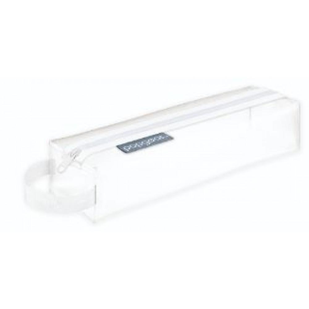 FOLDERMATE POPGEAR SERIES PVC CARRY POUCH 22*6.5CM CLEAR