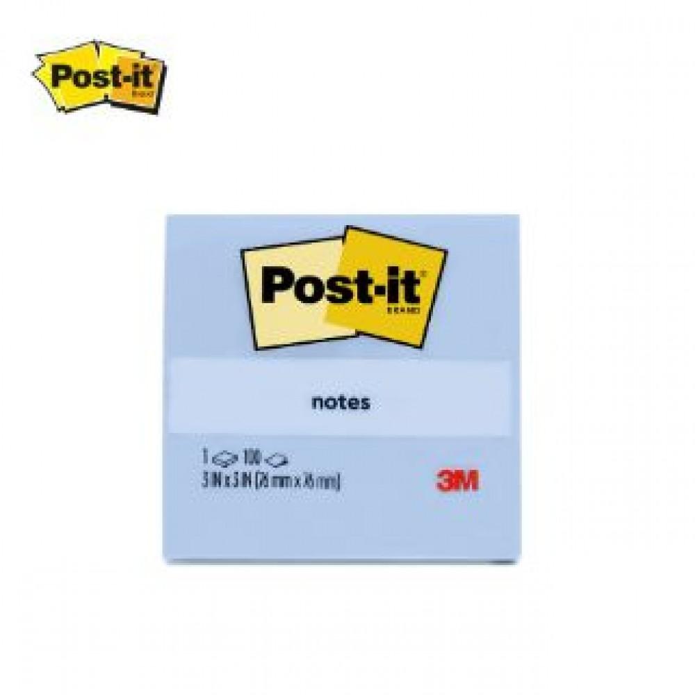 """3M POST-IT NOTES 3X3""""100'S 654-1CB Cloud Blue"""