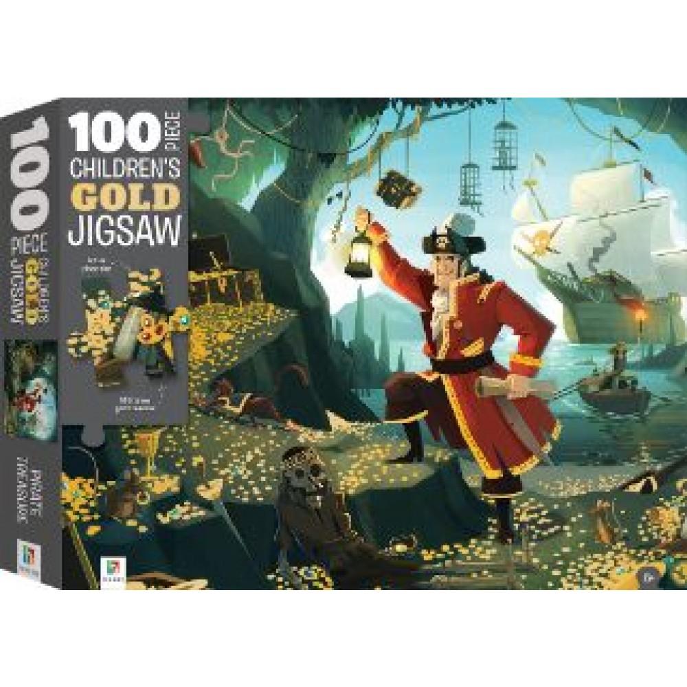 HINKLER CHILDREN JIGSAW PUZZLE GOLD PIRATE TREASURE 100PCS