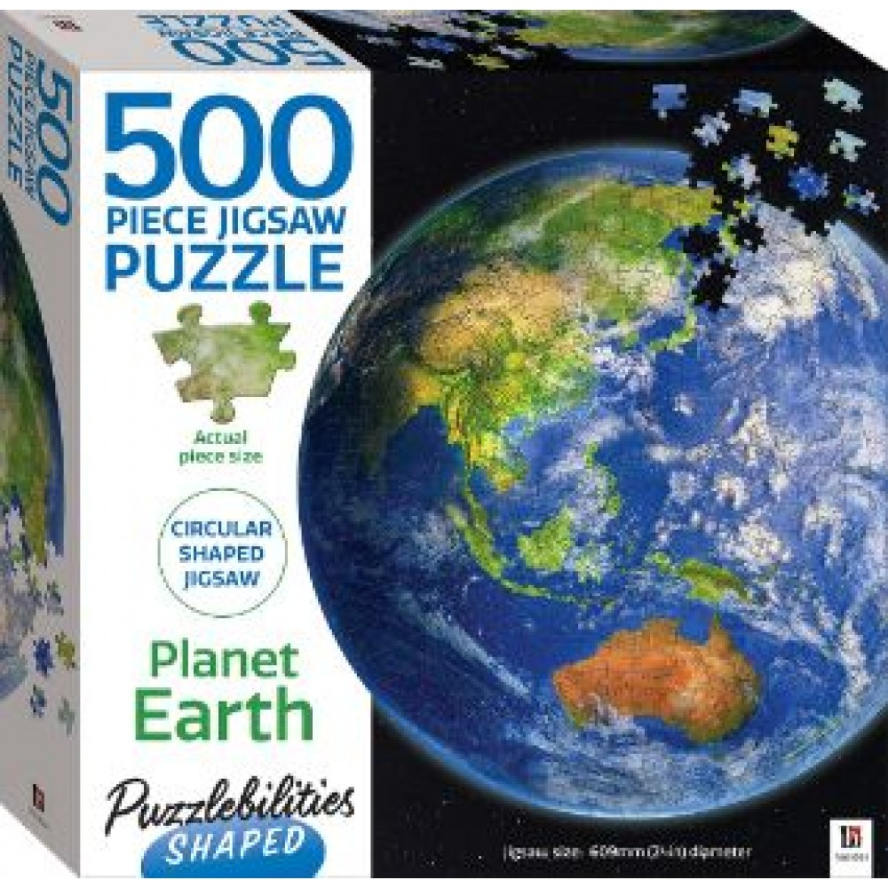 HINKLER SHAPED JIGSAW PUZZLE PLANET EARTH 500PCS