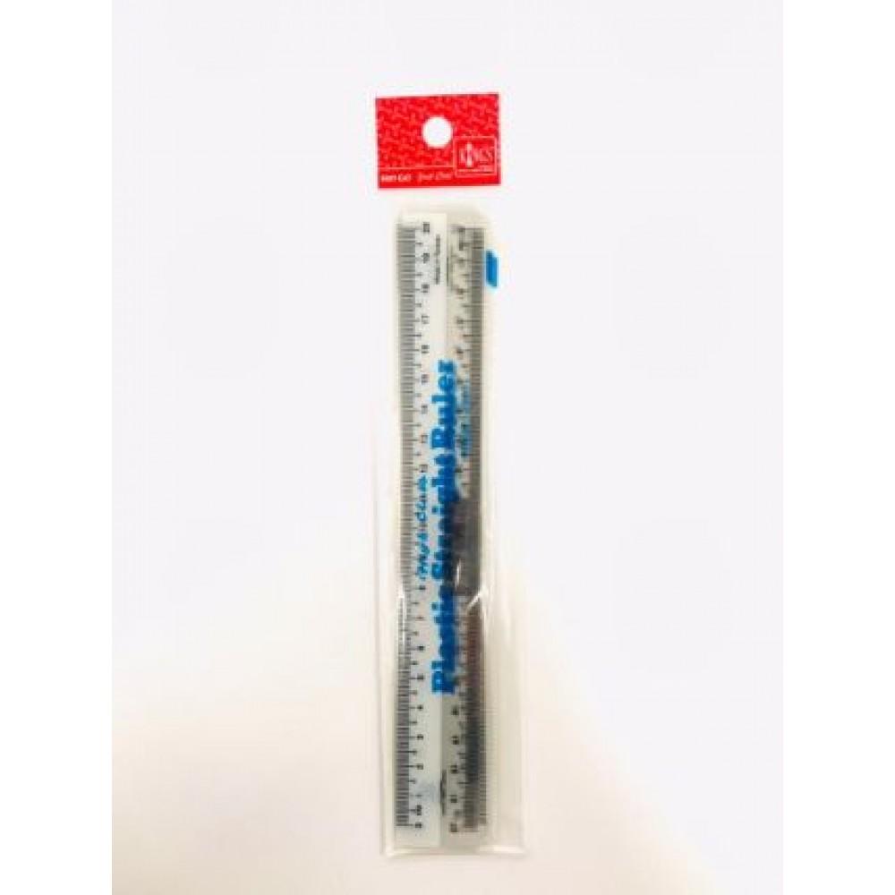 """PLASTIC STRAIGHT RULER 20cm 8"""" 3PCS/ PACK"""