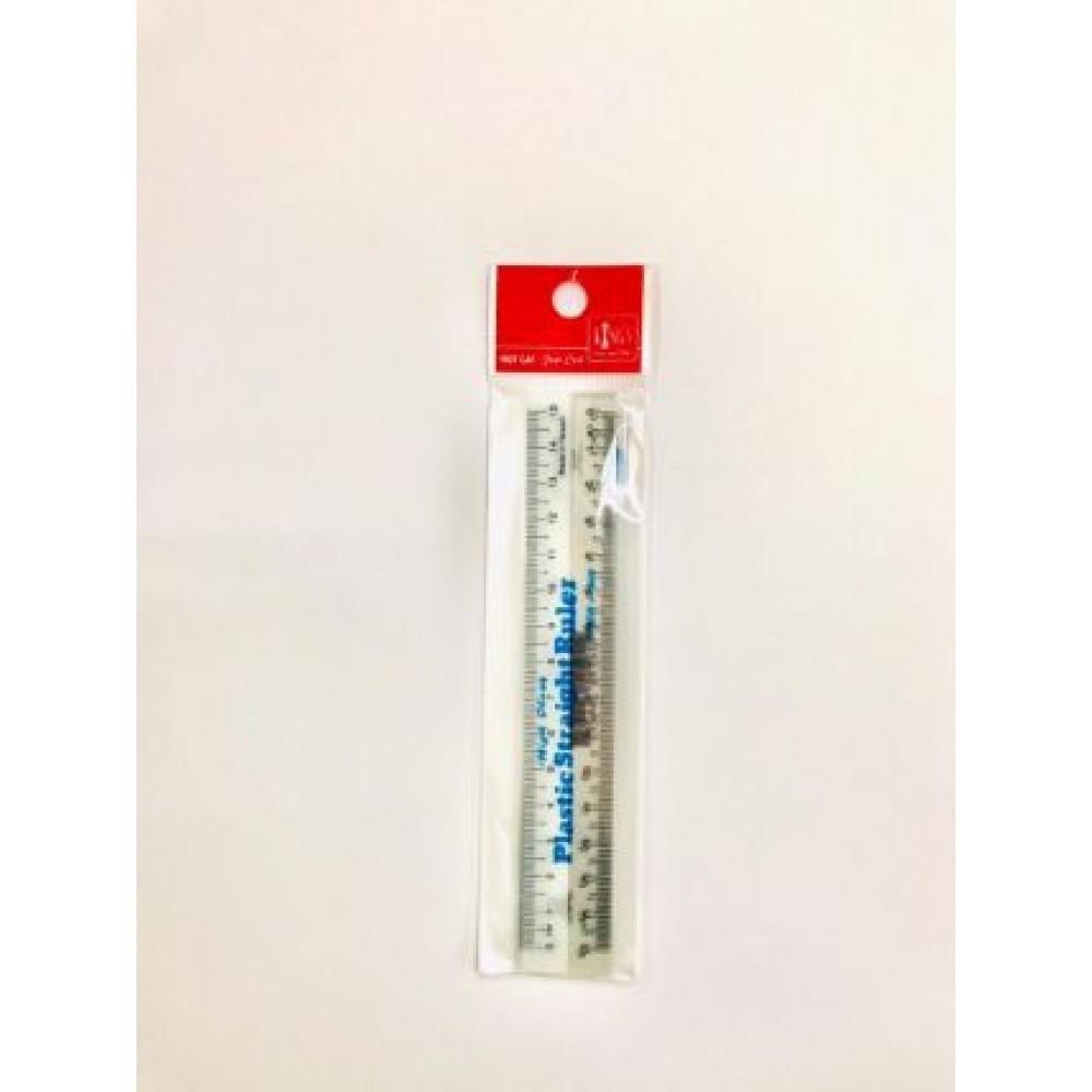 """PLASTIC STRAIGHT RULER 15cm 6"""" 3PCS/PACK"""