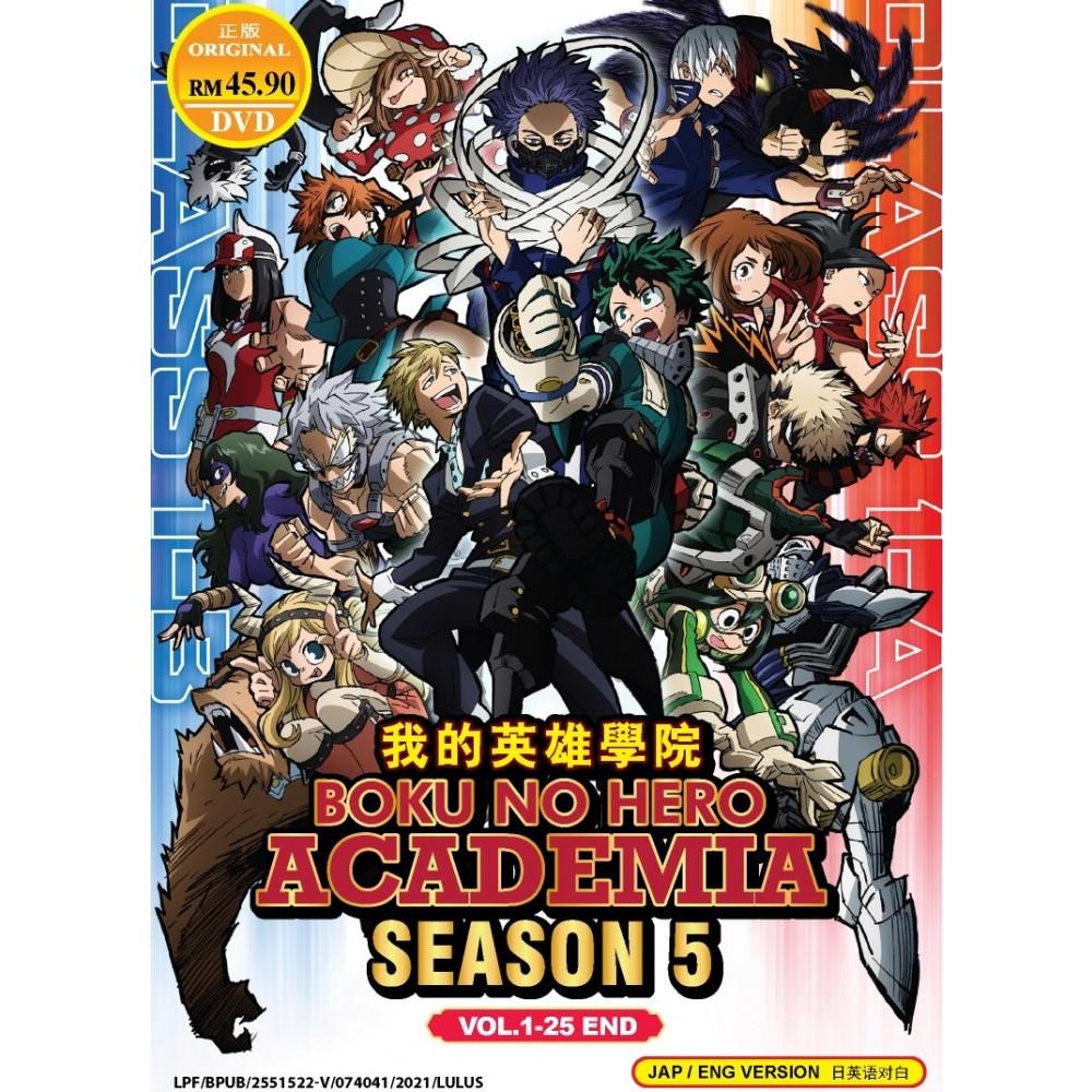 BOKU NO HERO ACADEMIA 我的英雄学院 S5 VOL.1-25 END (DVD)