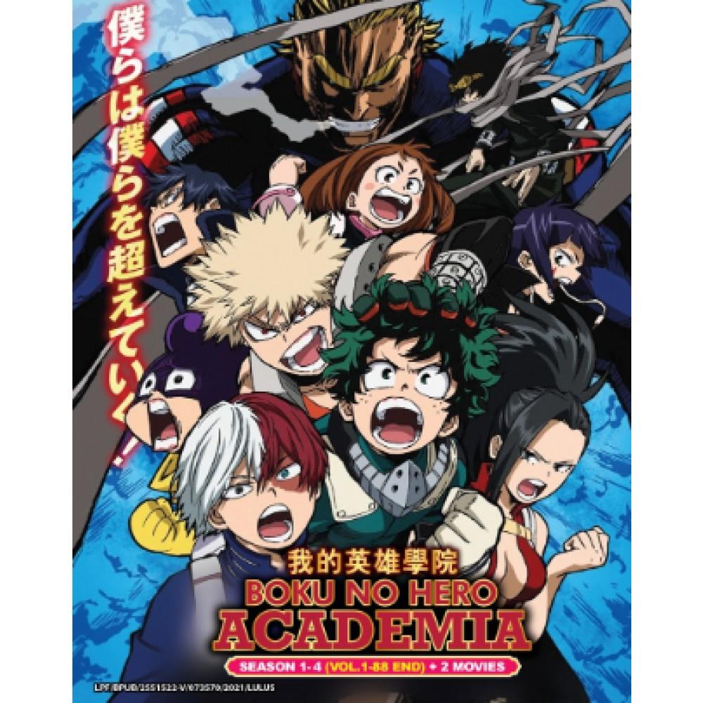 BOKU NO HERO ACADEMIA 我的英雄学院 SEASON 1-4 (VOL.1-88 END) + 2 MOVIES(10DVD)