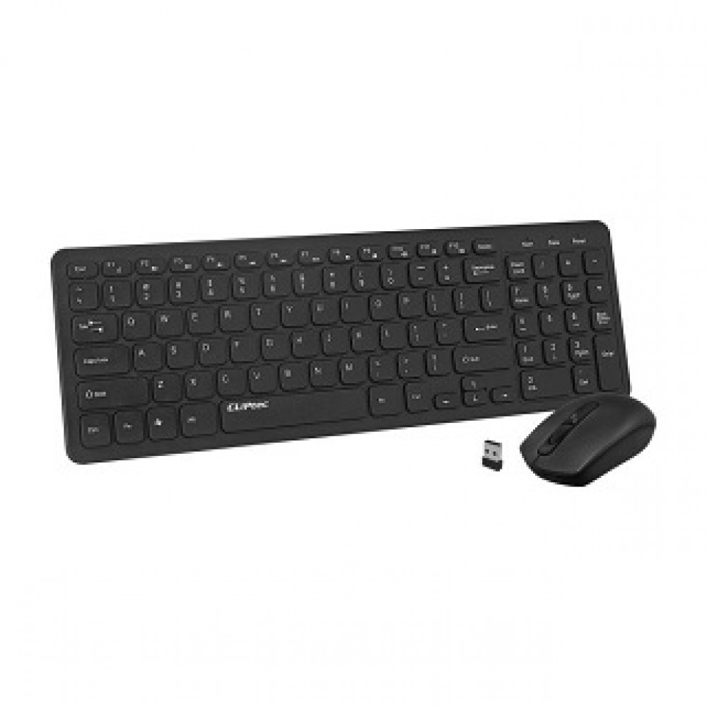 CLIPTEC RZK363 ULTRA SLIM SILENT WIRELESS KEYBOARD & MOUSE COMBO