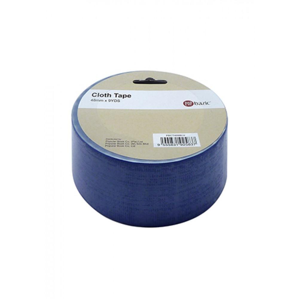 POP BAZIC CLOTH TAPE 48MM X 9YDS BLUE