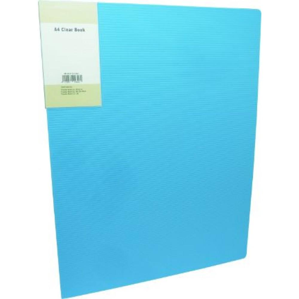 POP BAZIC DISPLAY BOOK A4 10 POCKETS LIGHT BLUE