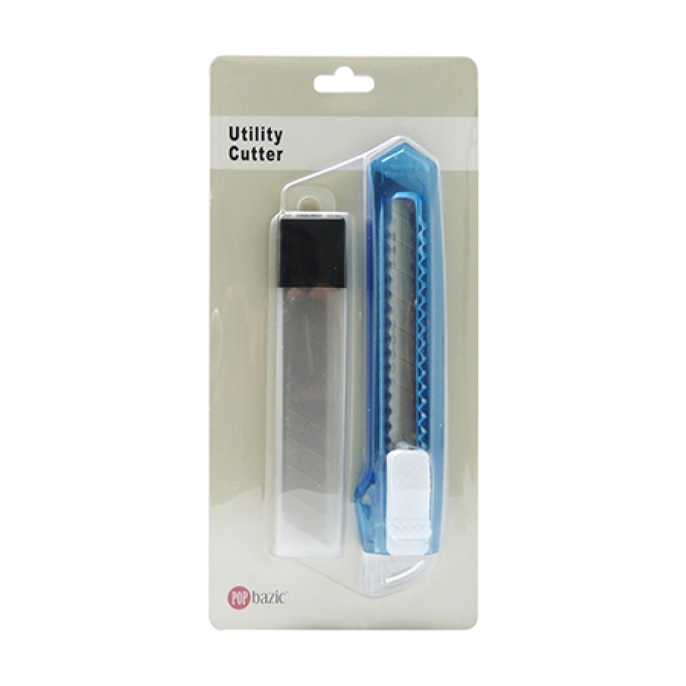 POP BAZIC BASIC CUTTER 18MM WITH 5 PIECES REFILL BLUE