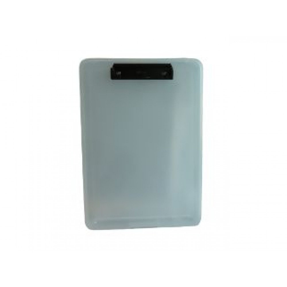 POP BAZIC A4 FILE CASE WITH CLIPBOARD CLEAR PB8812