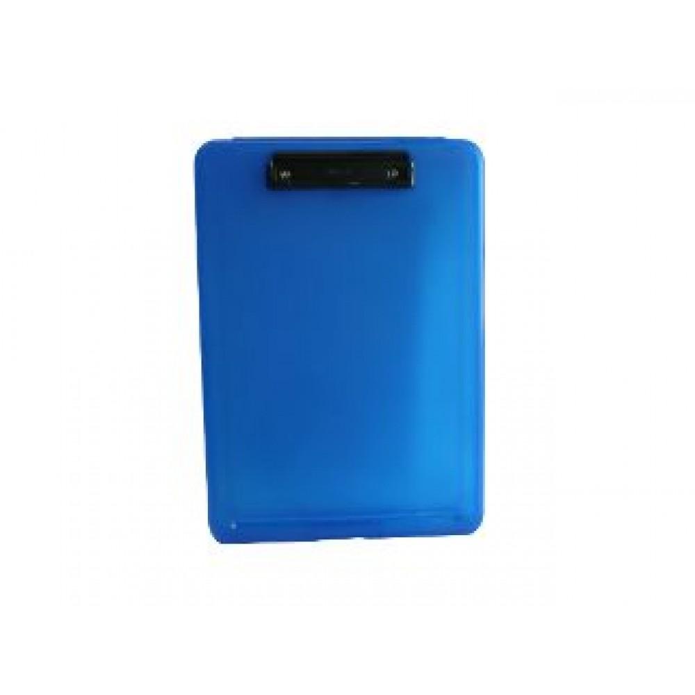 POP BAZIC A4 FILE CASE WITH CLIPBOARD BLUE PB8812