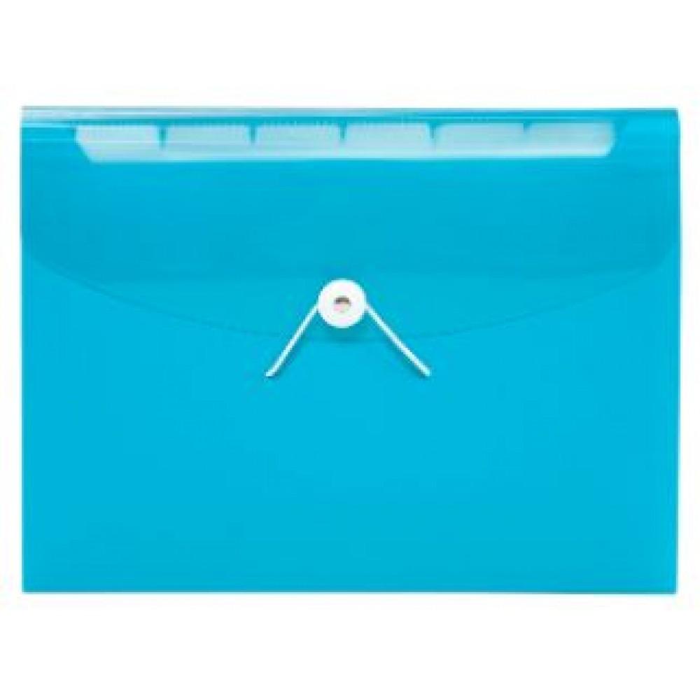 POP BAZIC PP EXPANDING FILE A4 13 POCKETS BLUE