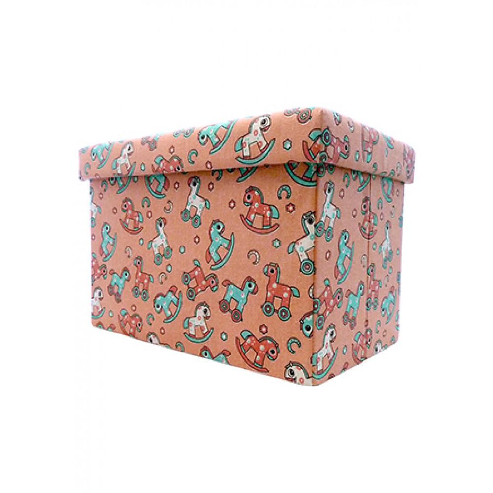 STORAGE BOX CUM CHAIR 48*31*31CM -PONY FL-1311M