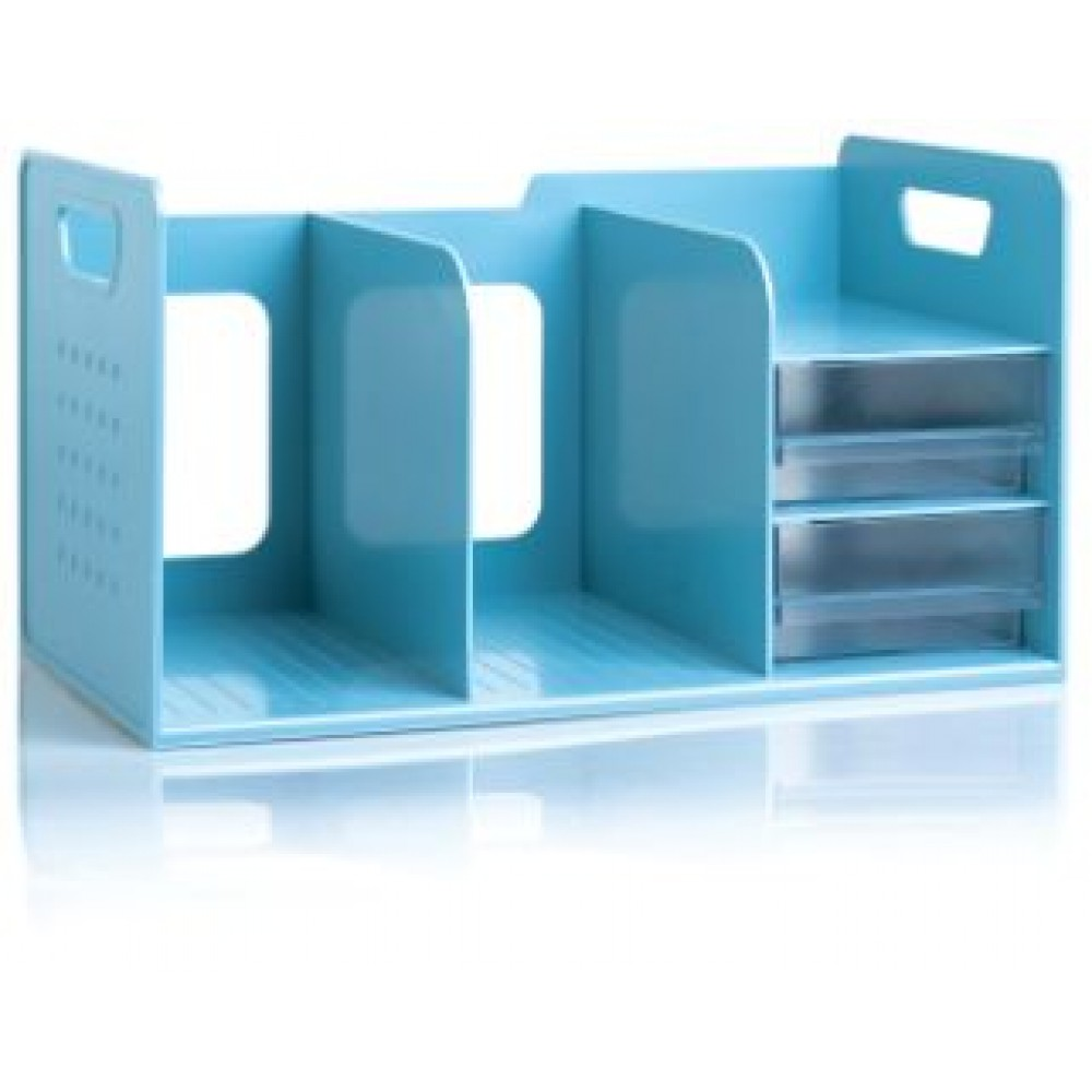 SDLP BOOK RACK WITH 2 DRAWER -  BLUE