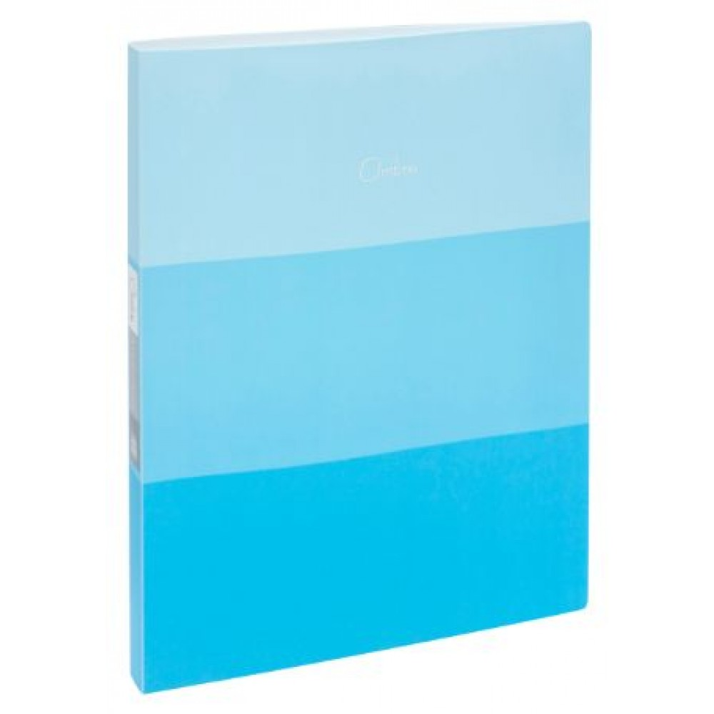 POP BAZIC OMBRE SERIES CLEAR BOOK A4 20 POCKETS BLUE