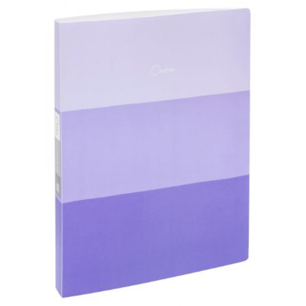 POP BAZIC OMBRE SERIES CLEAR BOOK A4 20 POCKETS PURPLE